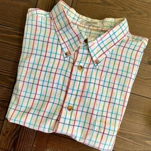 ORVIS . Button Front Short Sleeve Shirt . XL